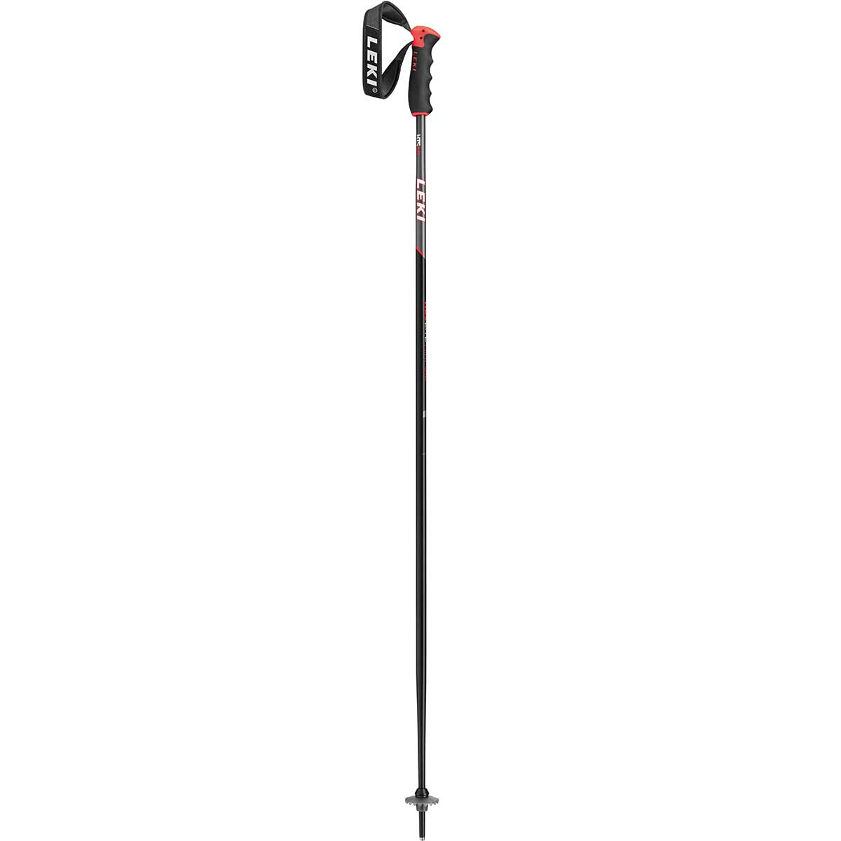 Leki Neolite Airfoil ski pole in black and red