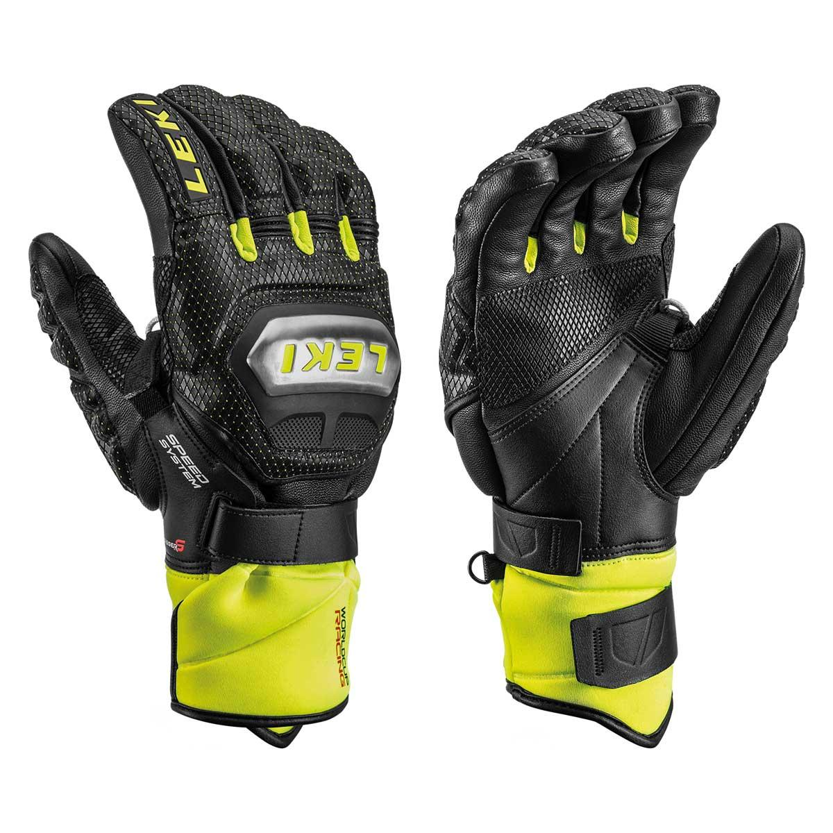Leki Worldcup Race Ti S Speed System Glove in black and lemon
