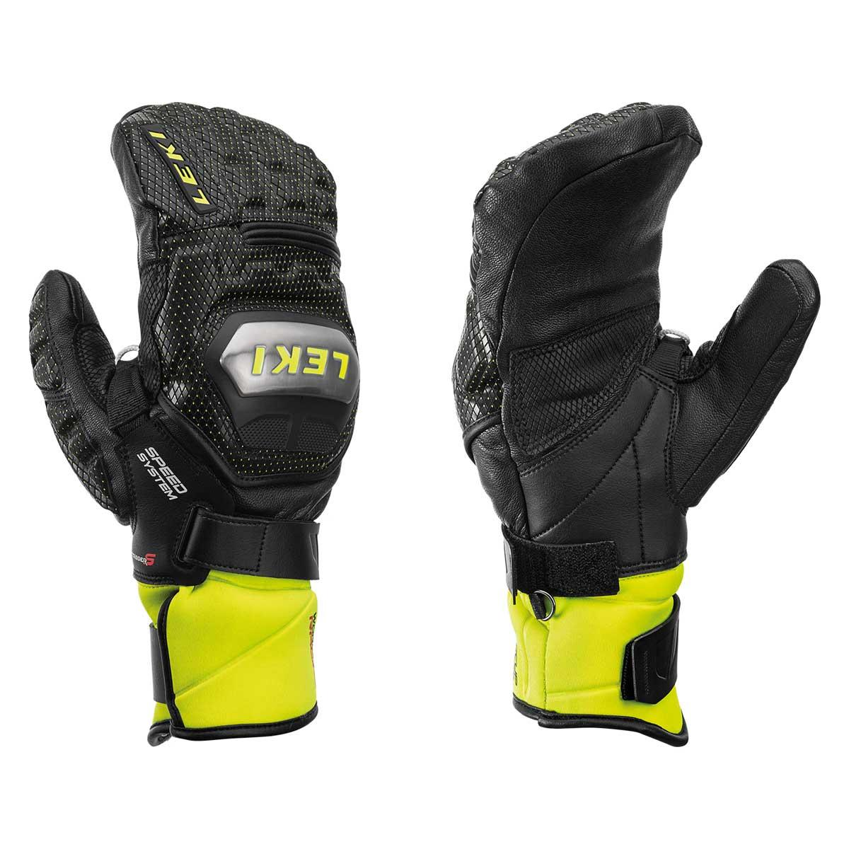 Leki Worldcup Race Ti Speed System Mitt in Black and Lemon