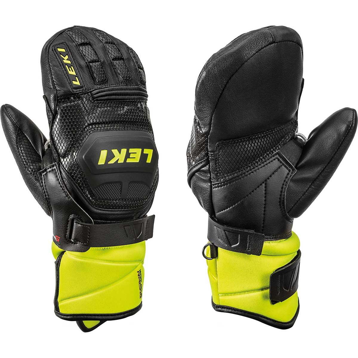 Leki Worldcup Race Flex S Mitt in black and lemon