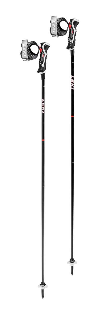 Leki Carbon 14 3D Ski Pole in Black and Red