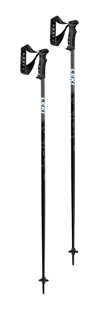 Leki QNTM Ski Poles in Black and Blue
