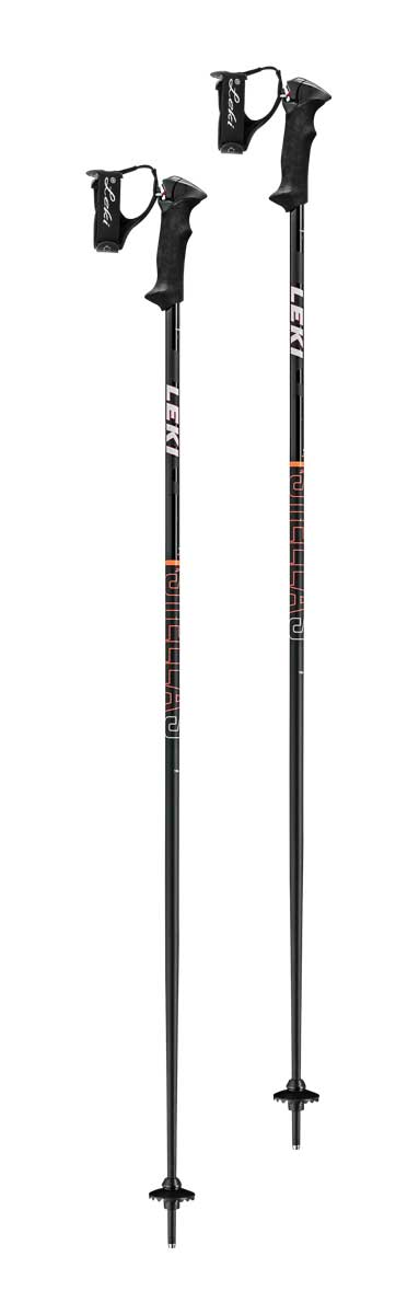 Leki Women's Stella S Ski Pole in Black Coral