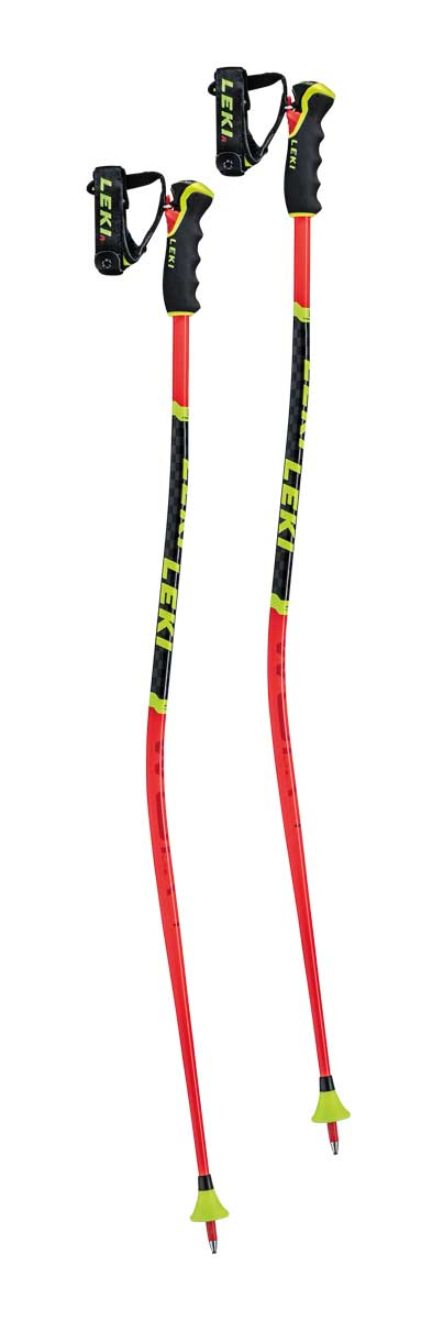 Leki Kid's WCR Lite GS 3D Ski Pole in Red