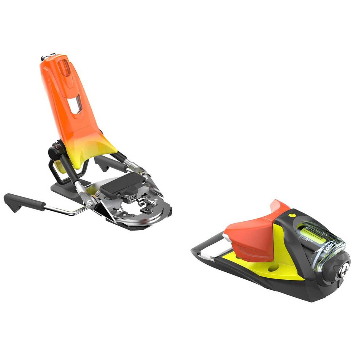 Look Pivot 14 AW ski binding in yellow and orange