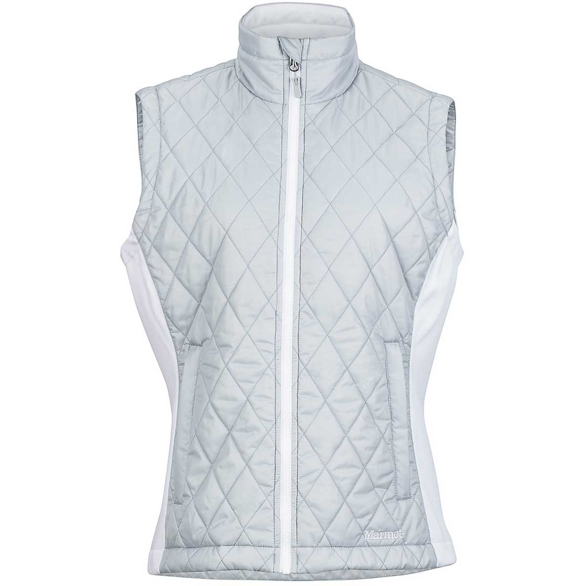 Marmot women's Kitzbuhel Vest in Brite Steel and White main view
