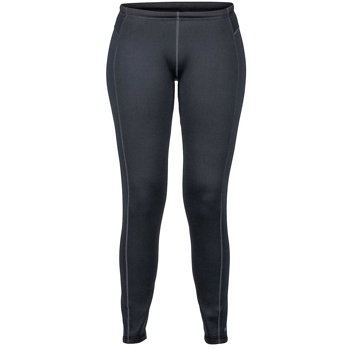 Marmot women's Stretch Fleece Pants in Black front view