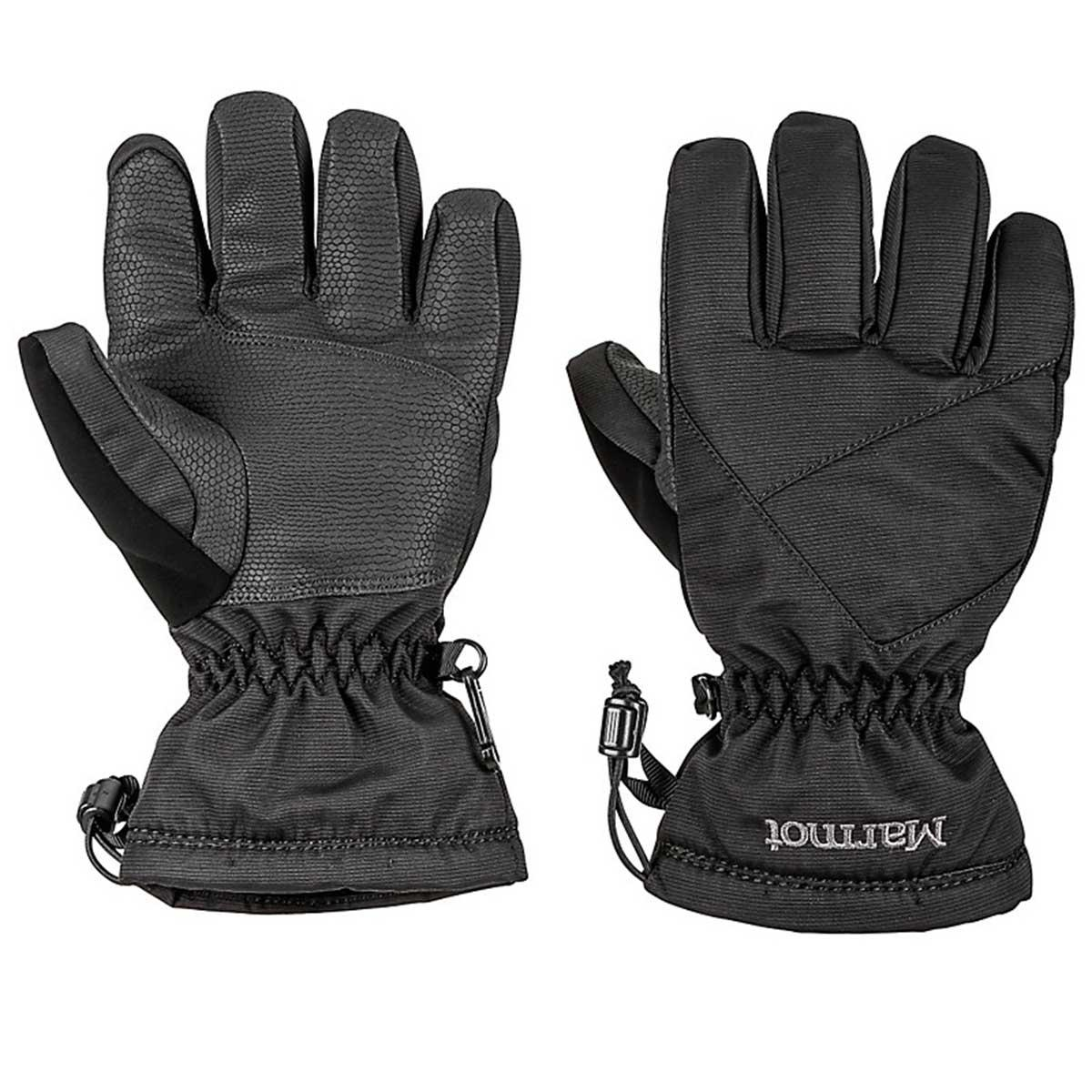 Marmot boys' Glade Glove in Black main view