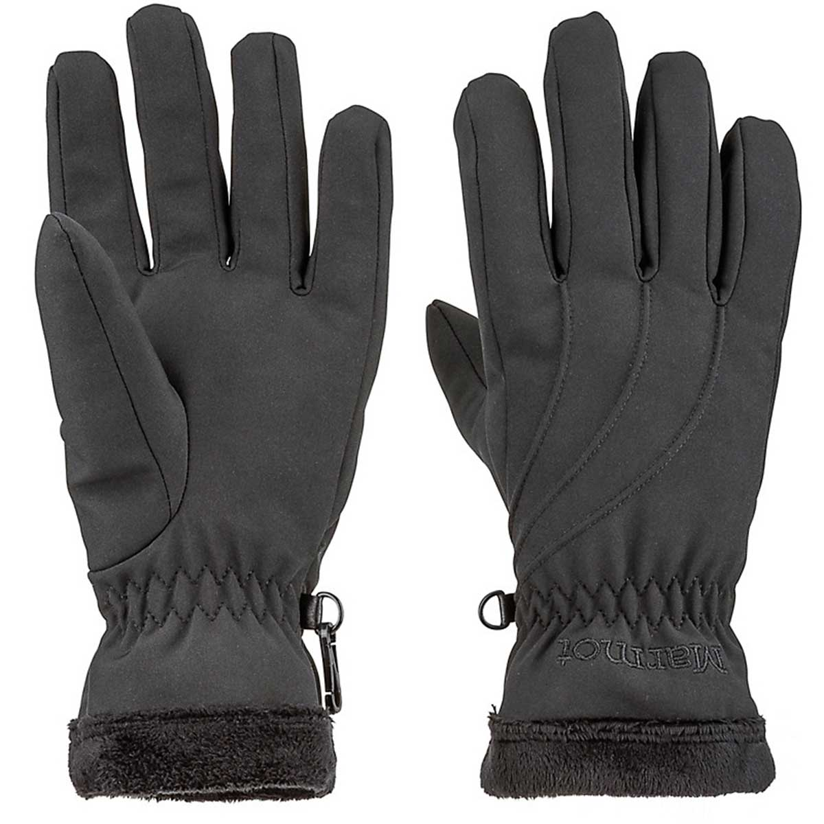 Marmot women's Fuzzy Wuzzy Glove in Black main view