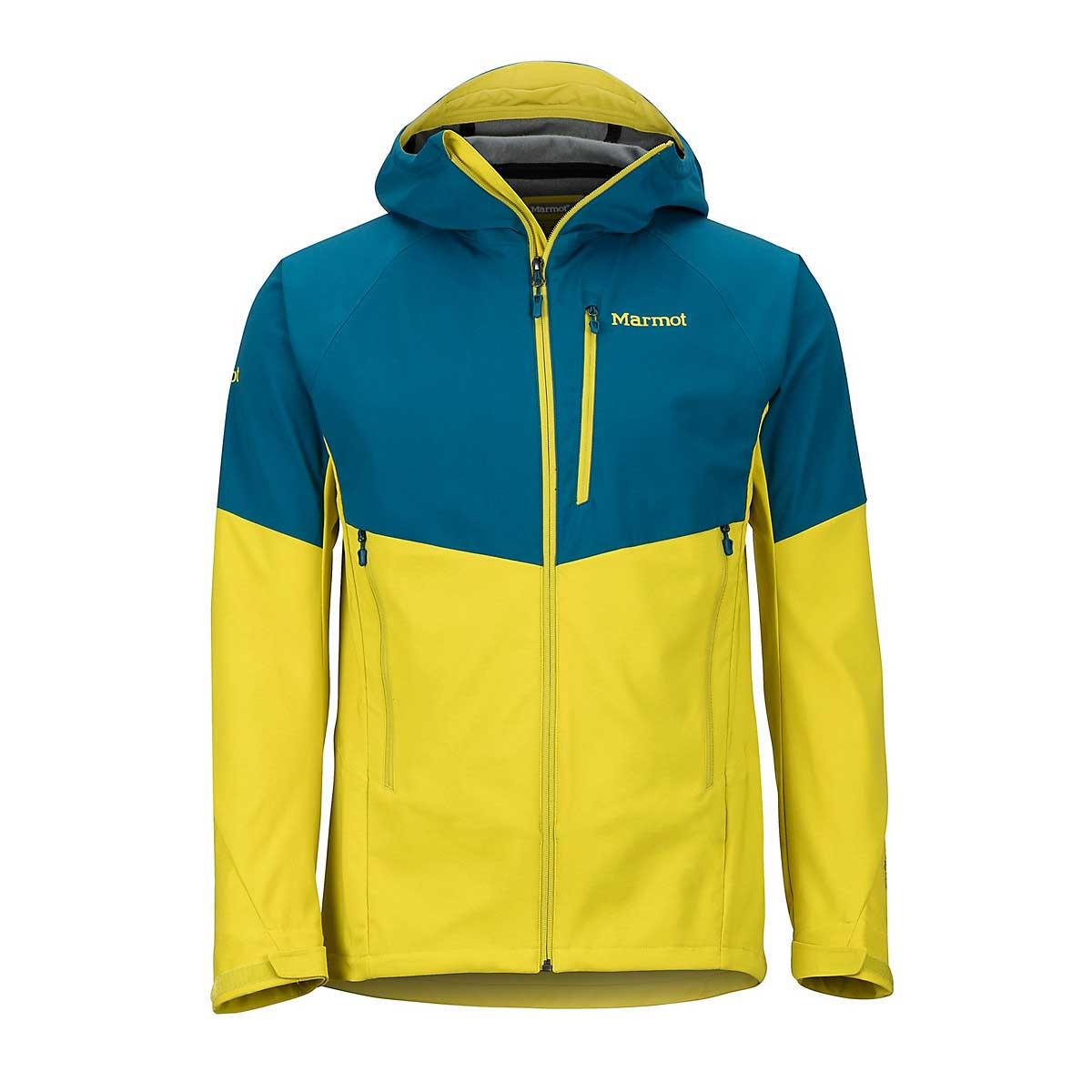 Marmot Men's ROM Jacket in Moroccan Blue and Citronelle