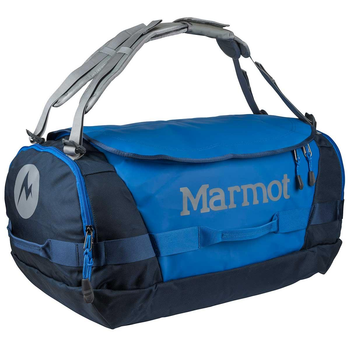 Marmot Long Hauler Duffle Bag Medium in Peak Blue and Navy main view