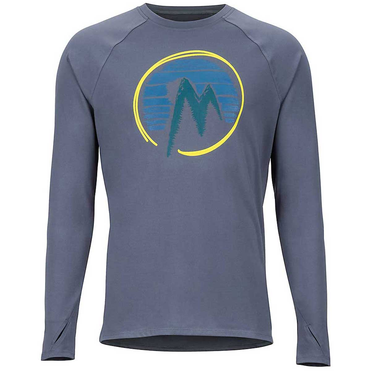 Marmot Men's Midweight Harrier Long Sleeve in Steel Onyx