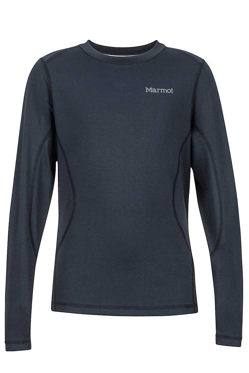 Marmot Girls' Midweight Meghan Crew in Black