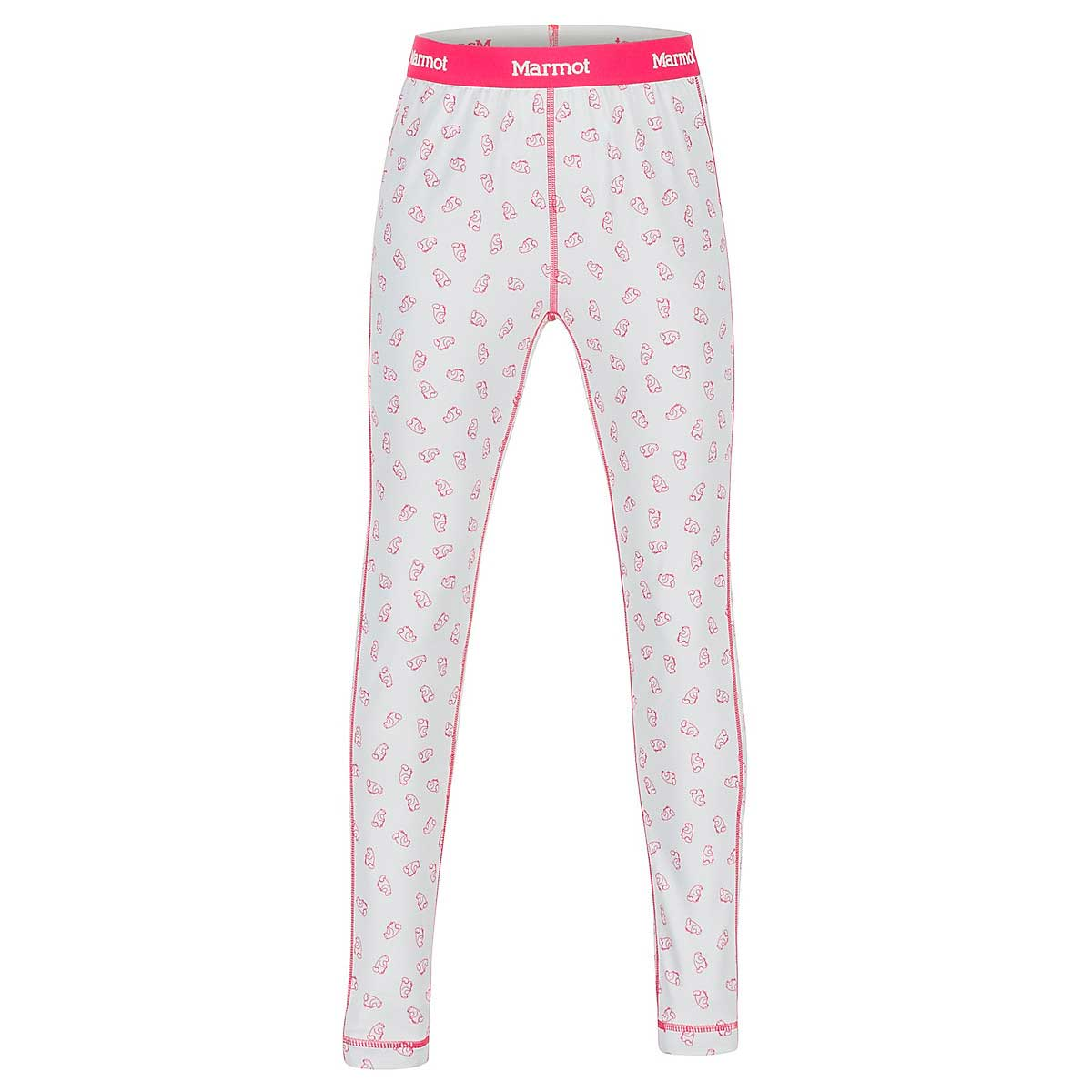 Marmot Girls' Midweight Meghan Tight in Disco Pink Ditzy Marmot