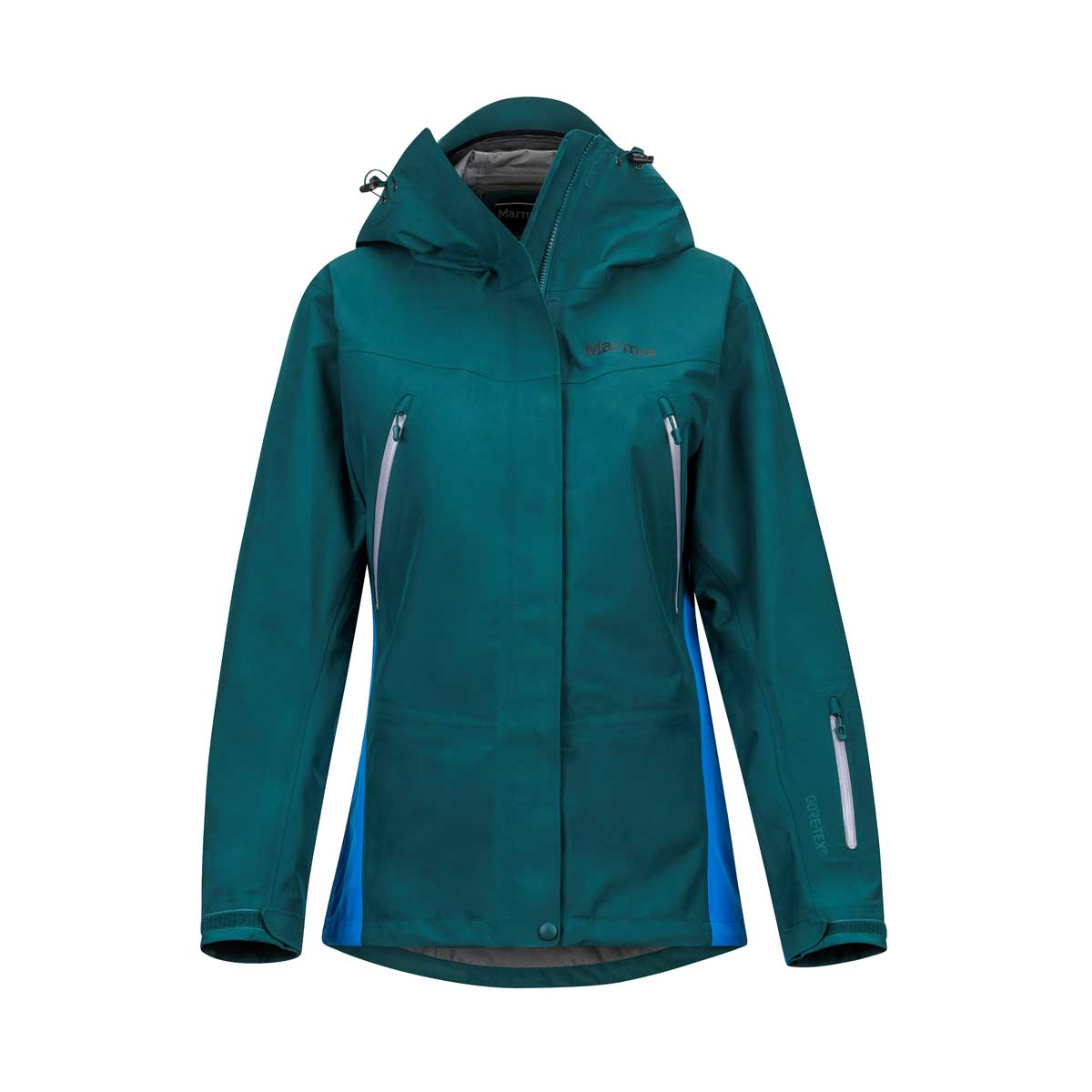 Marmot Women's Spire Jacket in Deep Teal and Clear Blue