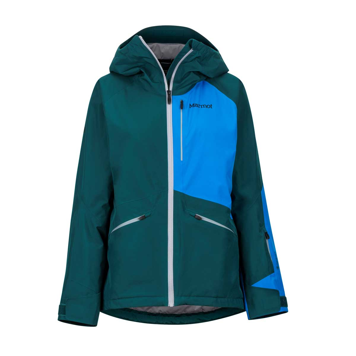 Marmot Women's Lightray Jacket in Deep Teal and Clear Blue