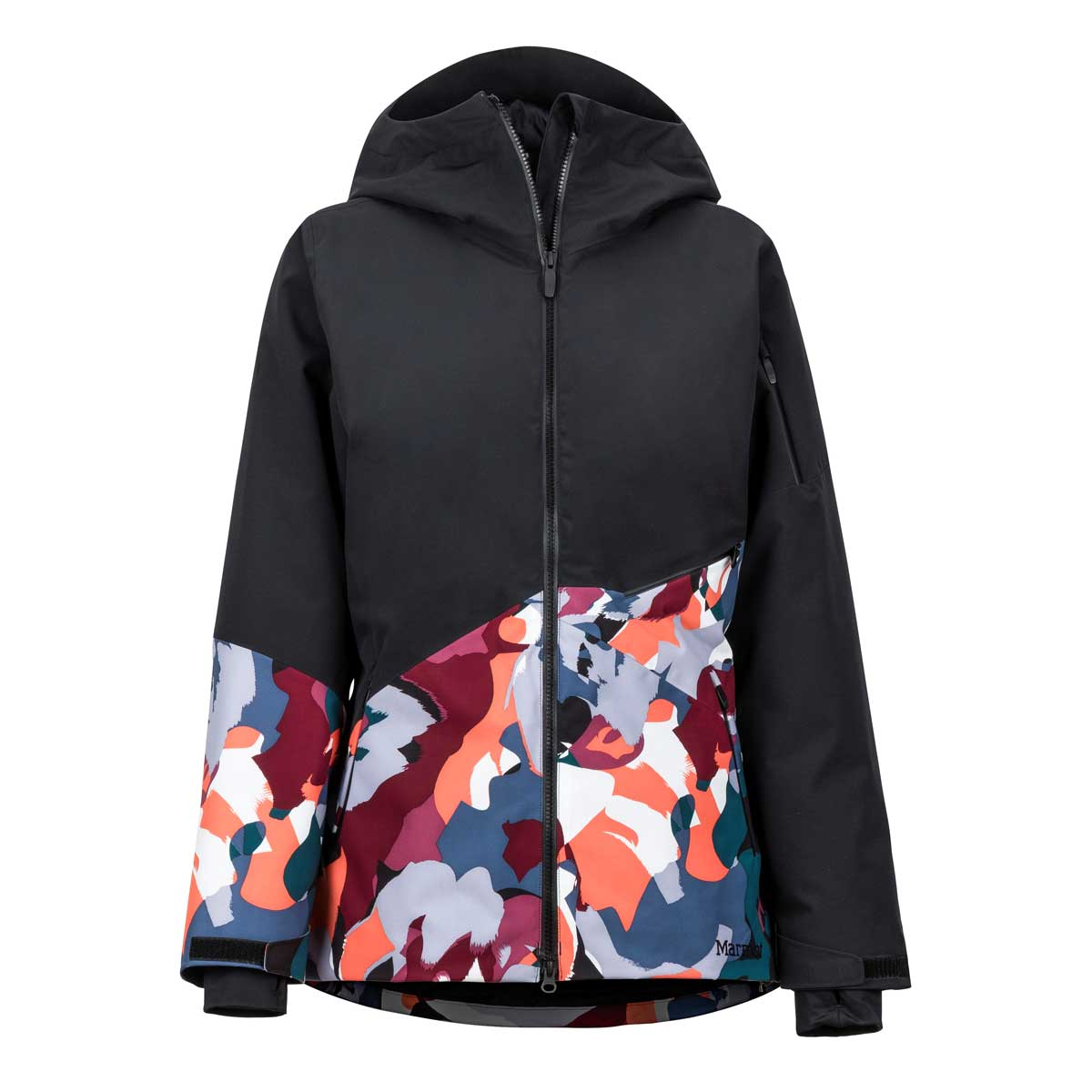 Marmot Women's Pace Jacket in Black and Multi Pop Camo