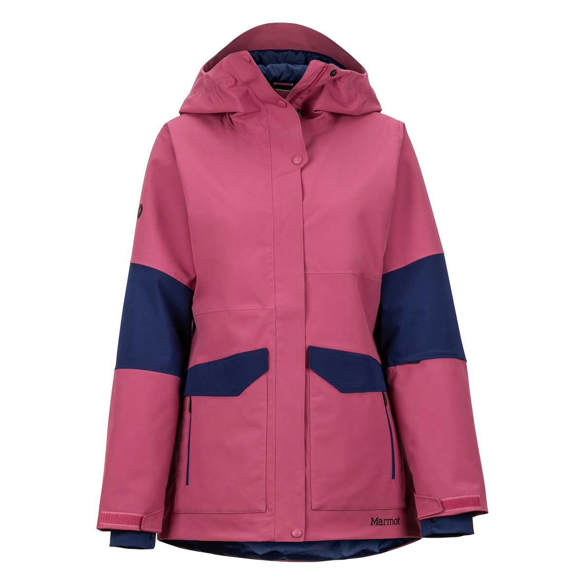 Marmot Women's Wilder Jacket in Dry Rose and Arctic Navy