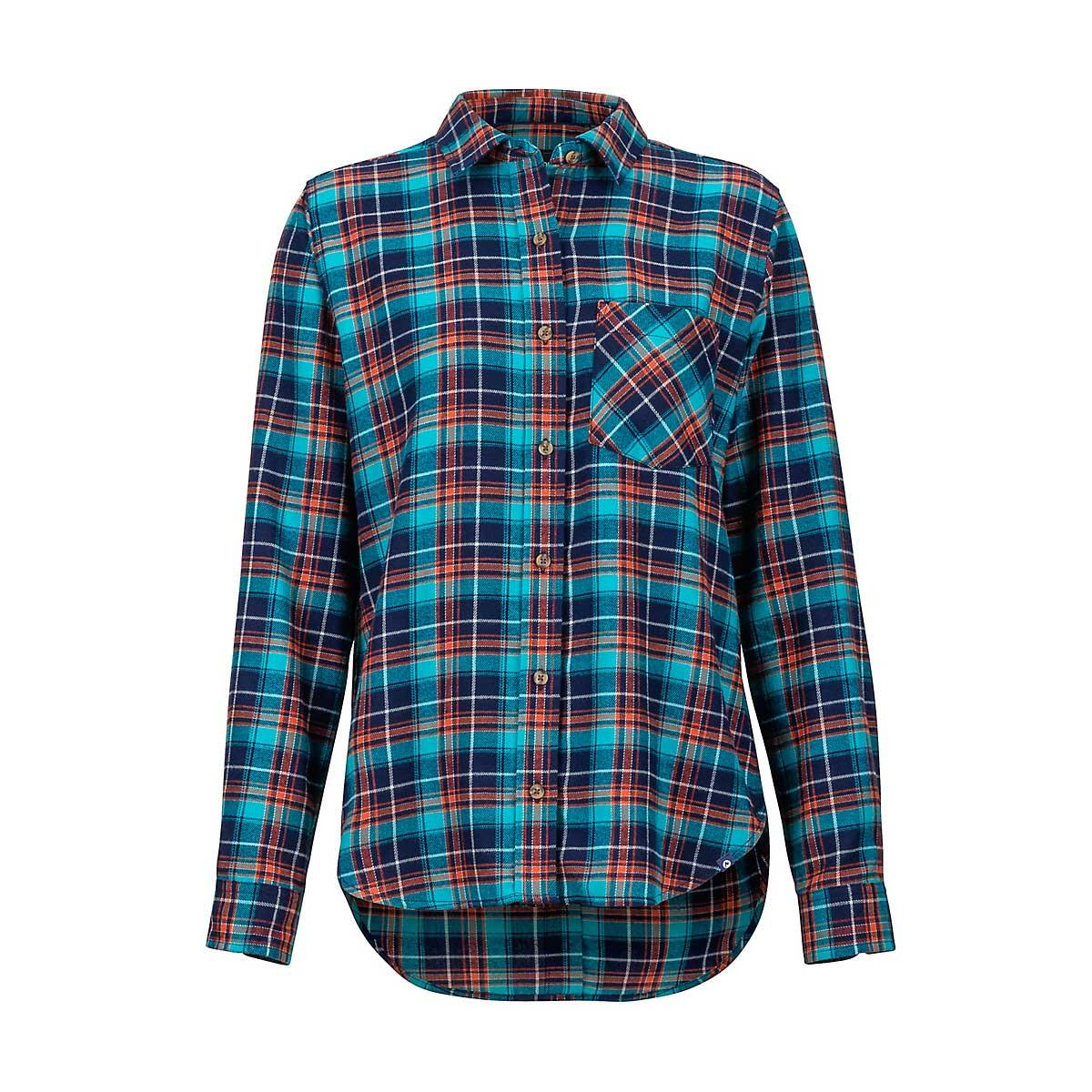 Marmot Women's Maggie Midweight Flannel Shirt in Arctic Navy
