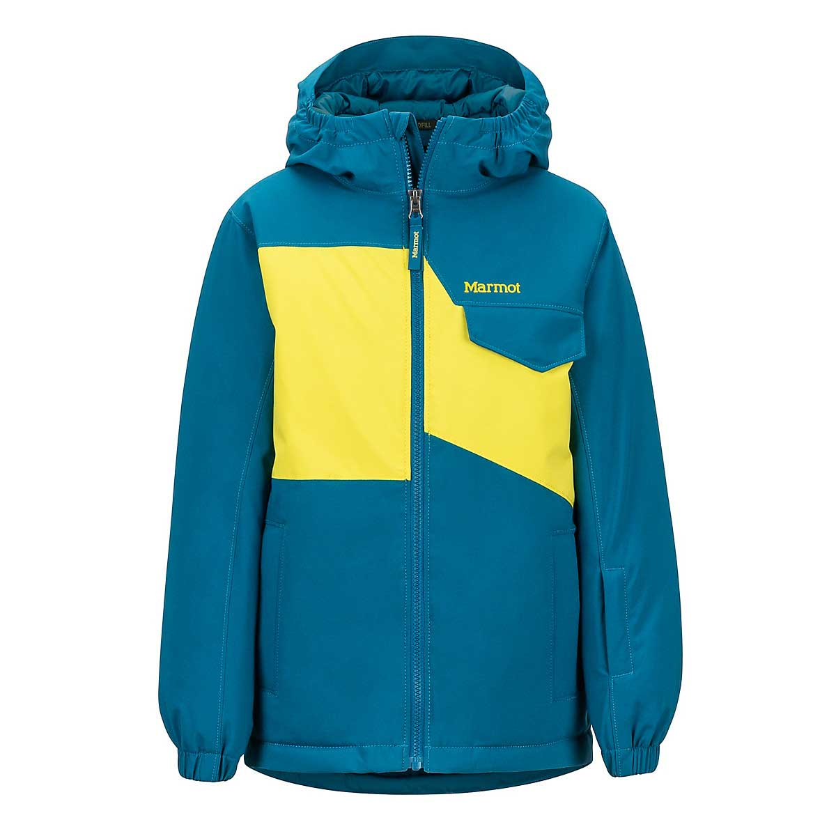 Marmot Boys' Rochester Jacket in Moroccan Blue and Citronelle