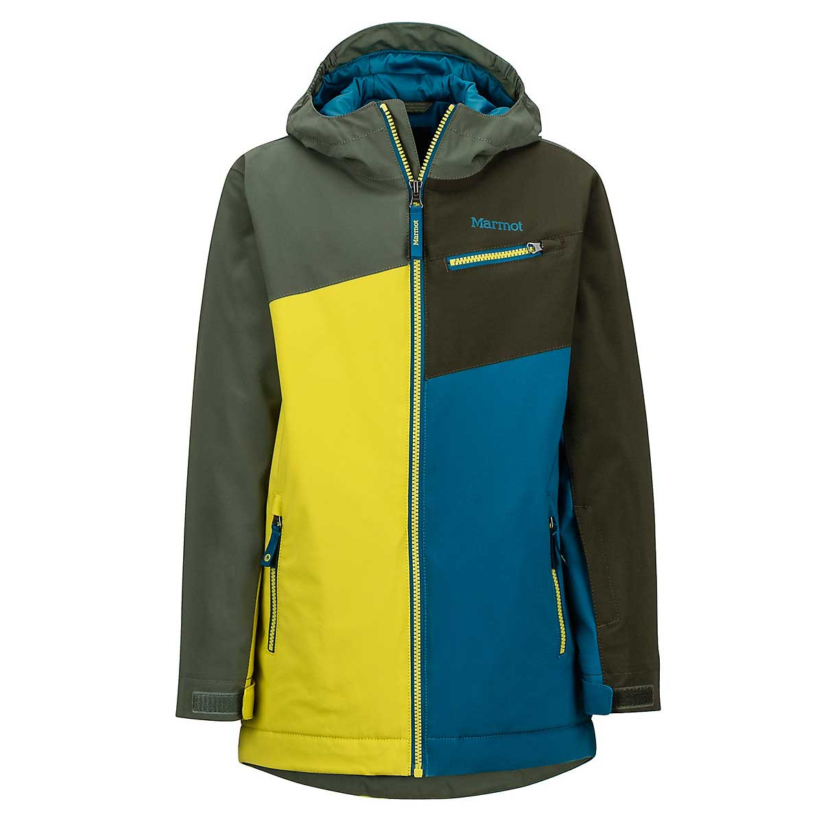Marmot Boys' Thunder Jacket in Citronelle and Crocodile