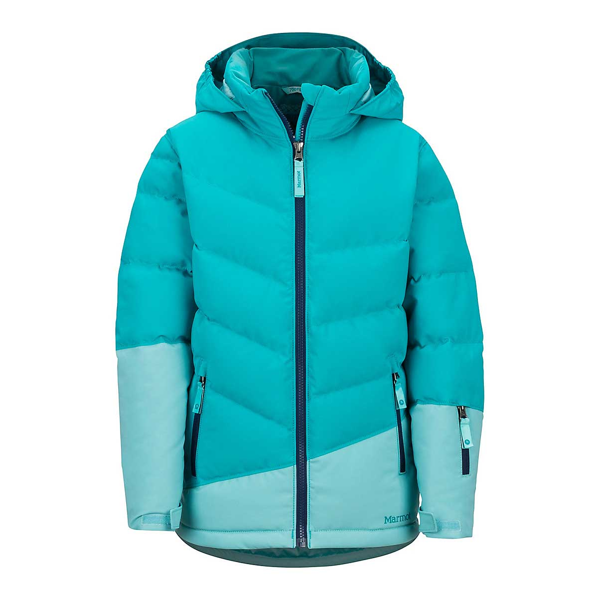 Marmot Girls' Slingshot Jacket in Blue Tile Aquarelle