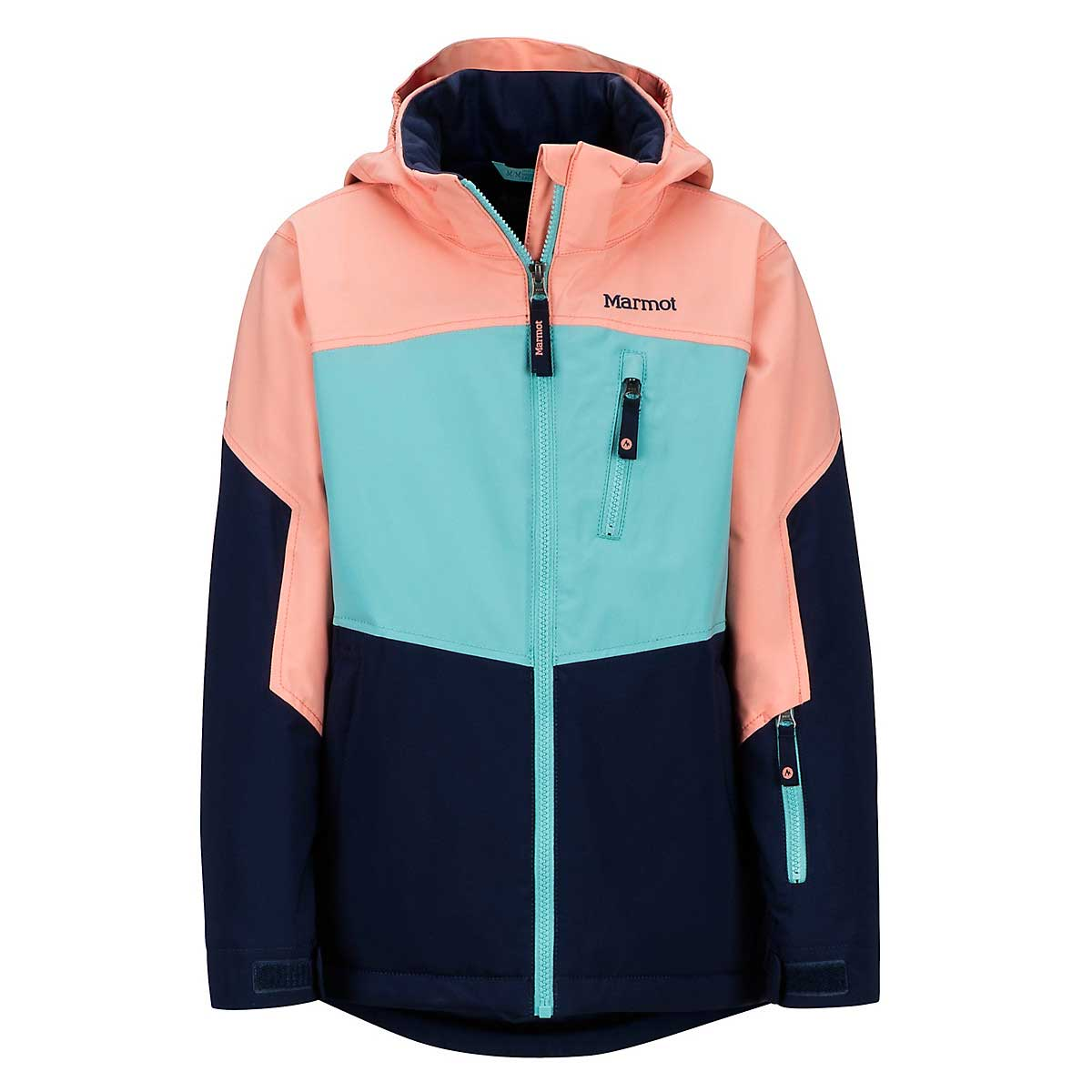 Marmot Girls' Elise Jacket in Arctic Nay and Spritzer