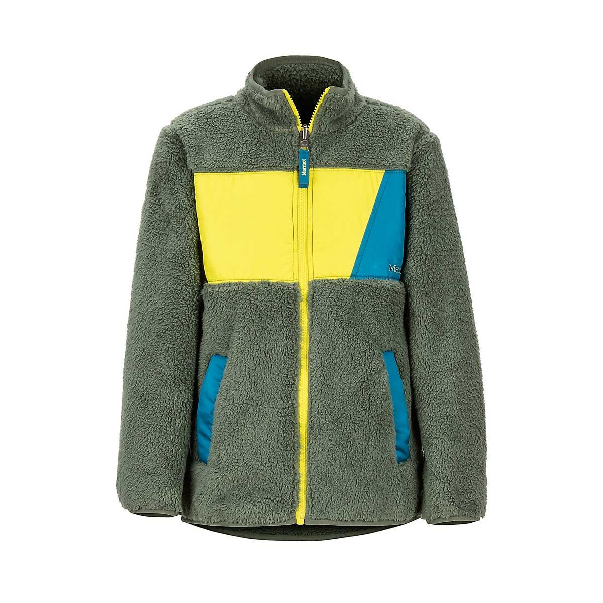 Marmot Boys' Roland Fleece in Crocodile and Citronelle