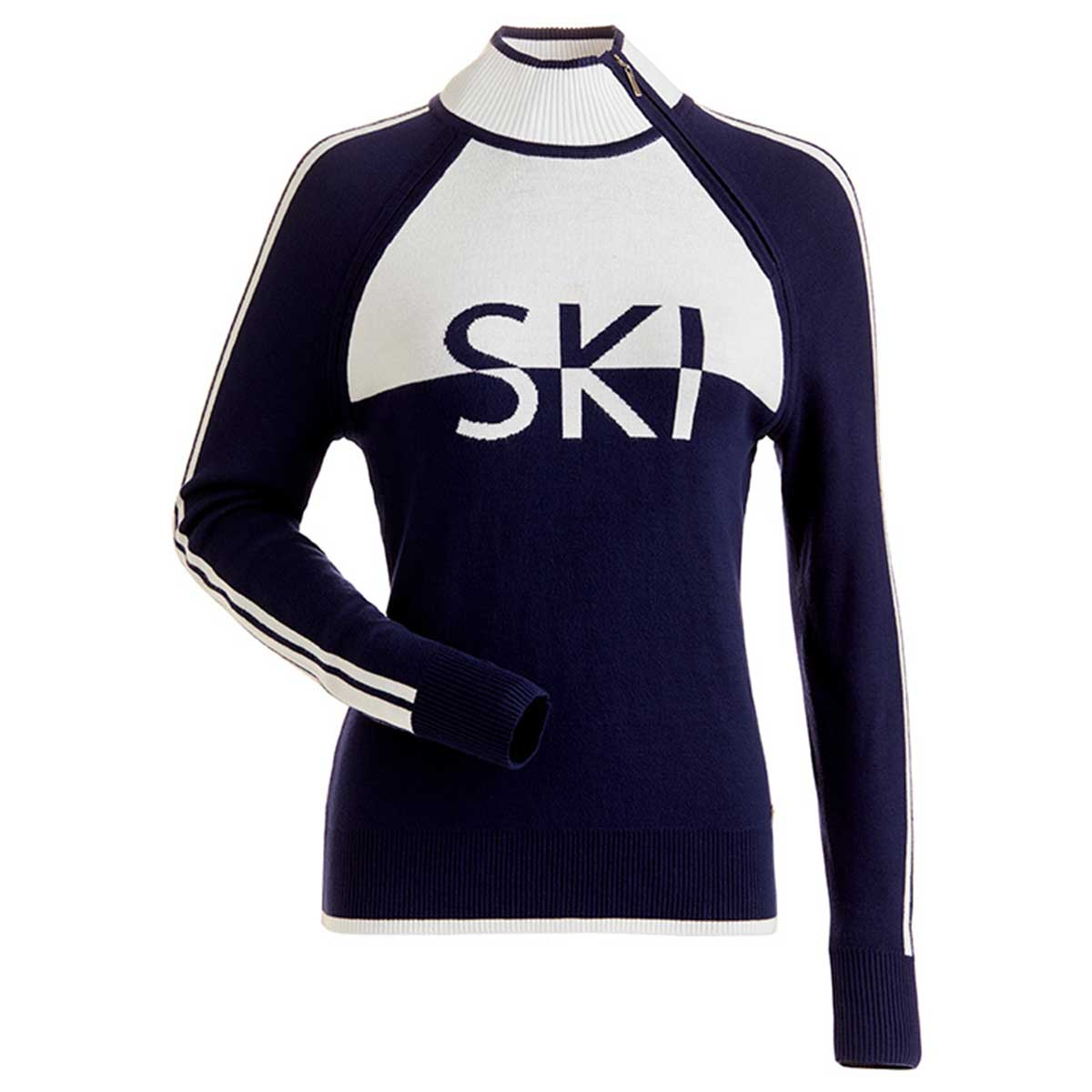NILS Ski sweater in Navy and White