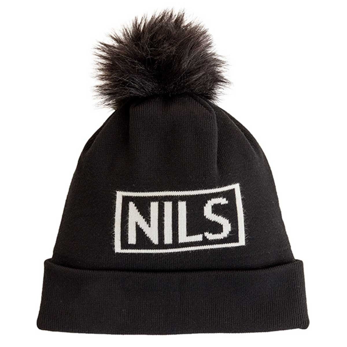 NILS knit beanie in black and white