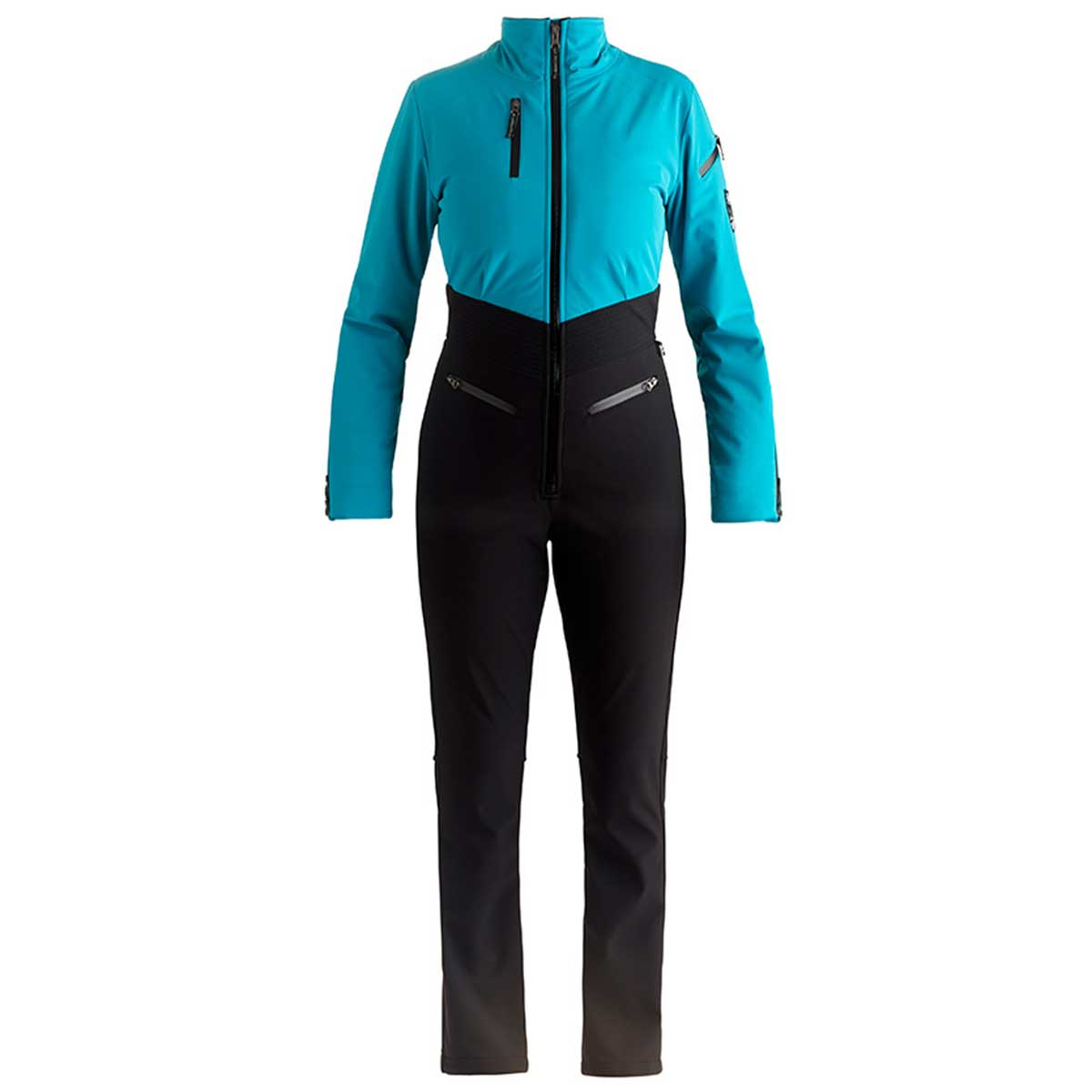 NILS Kora Suit in Aqua and Black