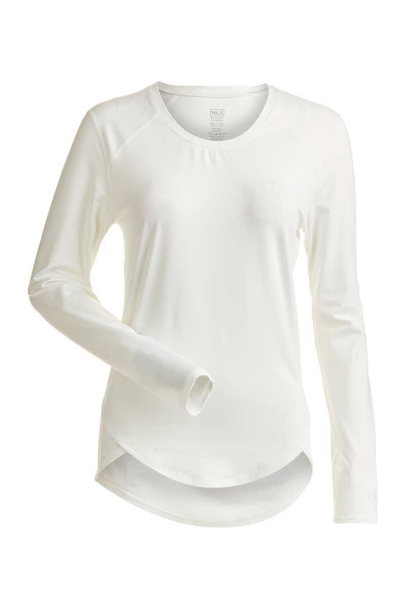 NILS Women's Abby Crew Neck Top in White