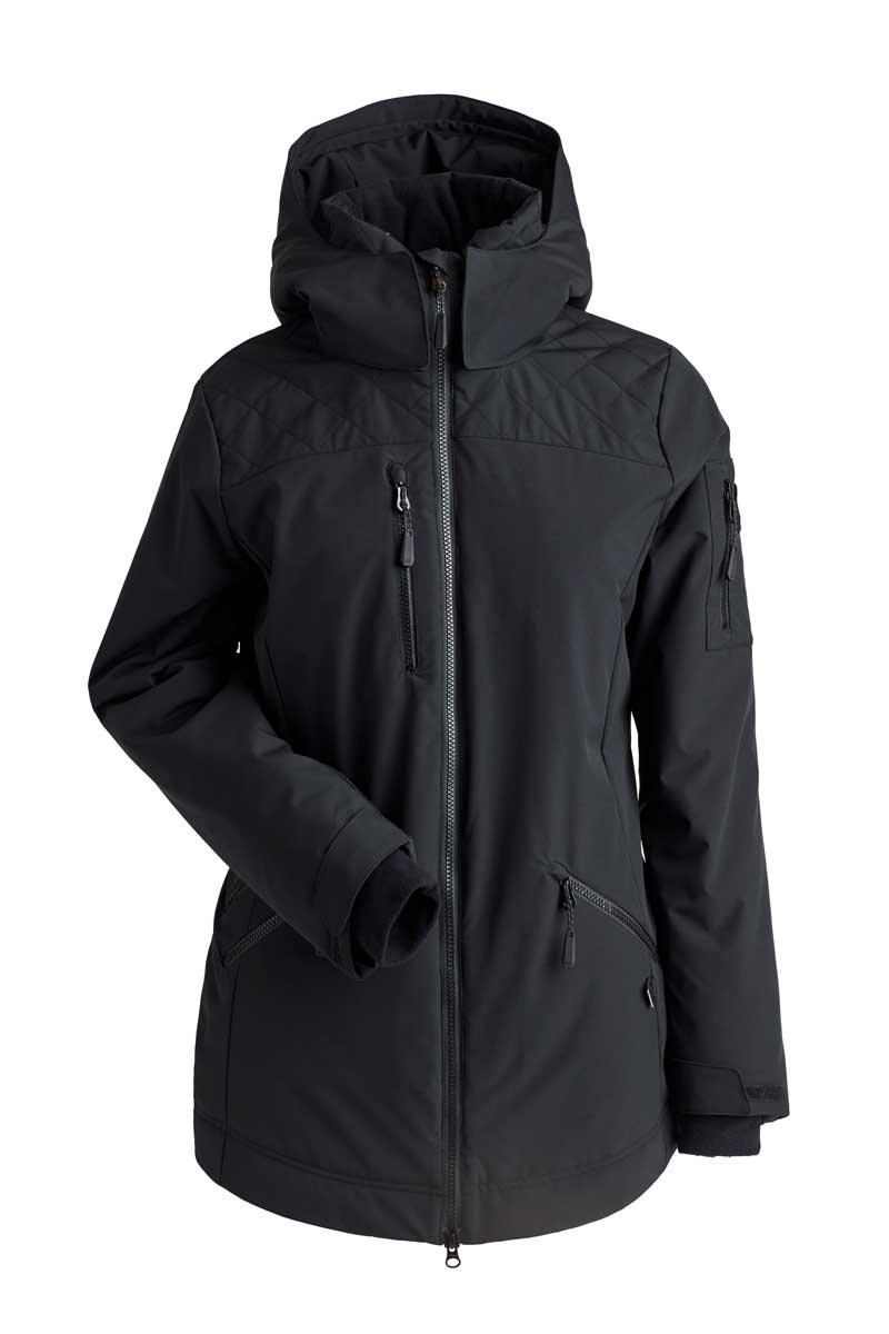 NILS Women's Lily Jacket in Black and Black