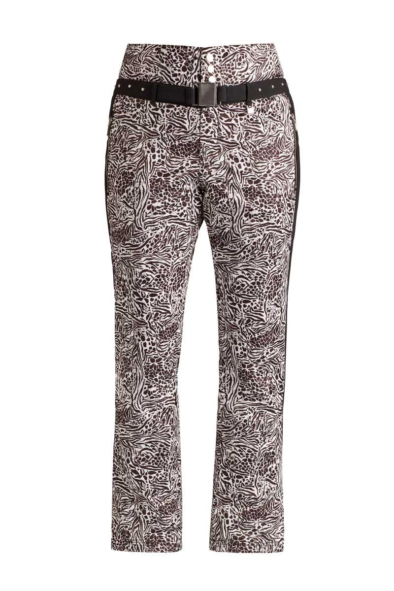 NILS Women's Mariette Print Pant in Animal Print and Black