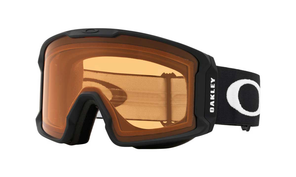 oakley line miner goggle in Matte Black with Prizm Persimmon