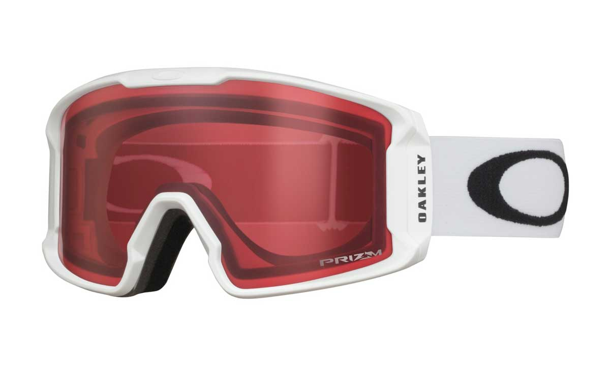oakley line miner goggle in Matte White with Prizm Snow Rose