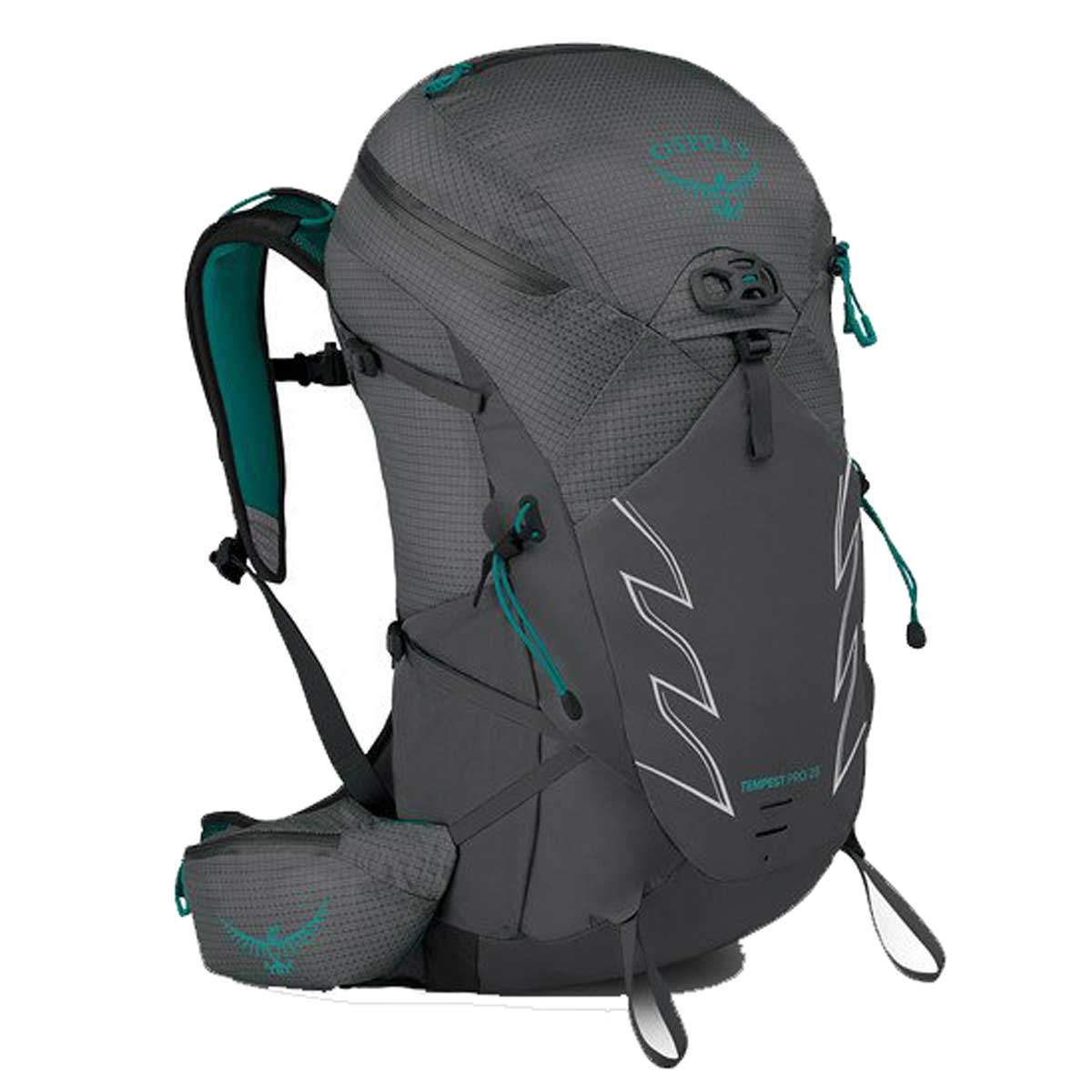 Osprey Tempest Pro 28 Backpack in Titanium Main View