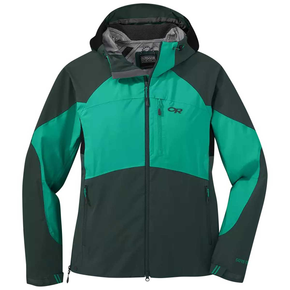 Outdoor Research Hemispheres Women's Jacket in Fir and Jade