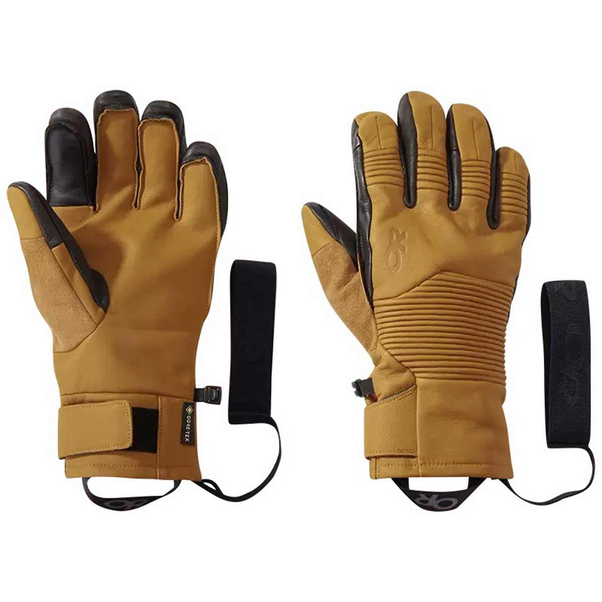 Outdoor Research Men's Point N Chute Sensor Glove in Natural and Black