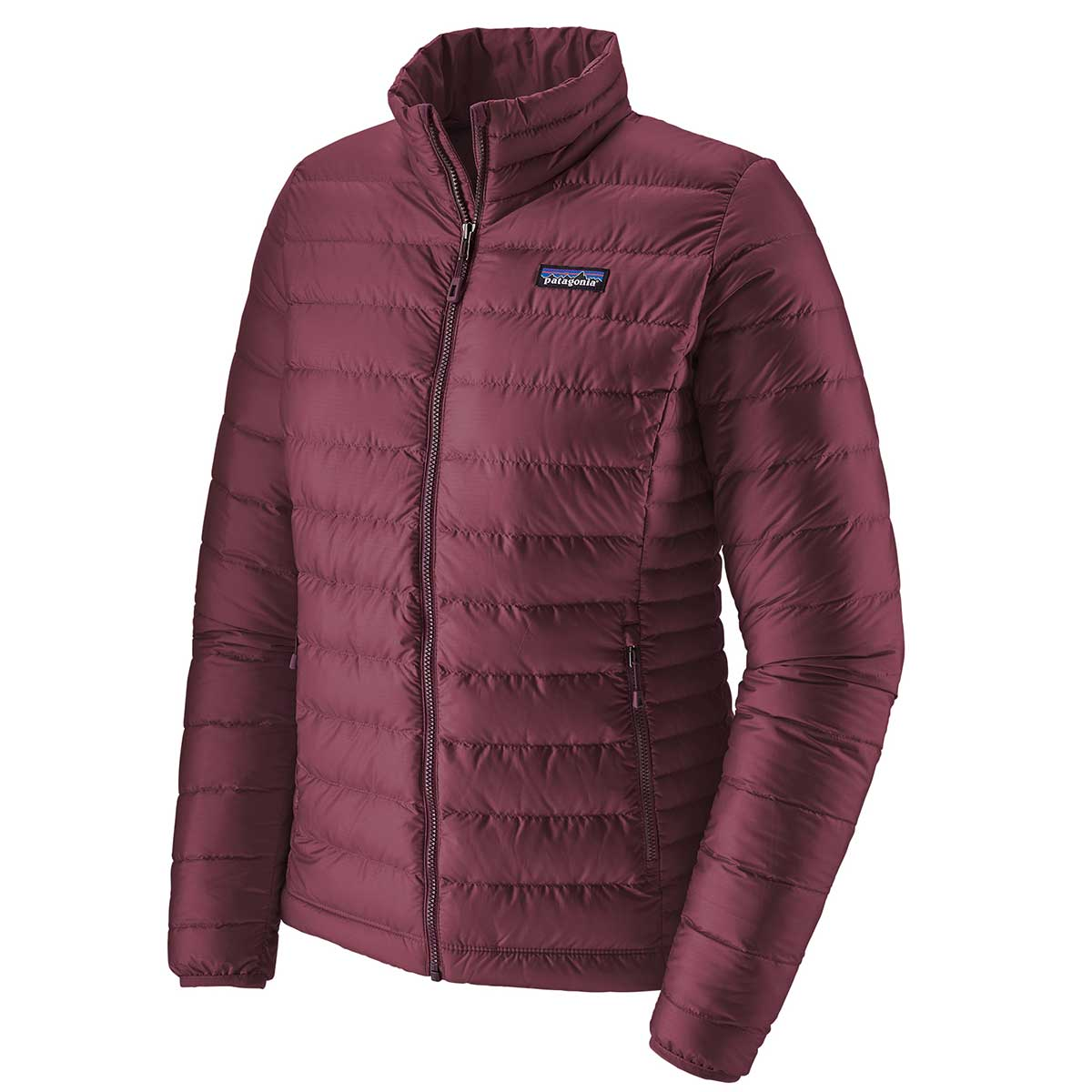 Patagonia women's Down Sweater Jacket in Light Balsamic front view