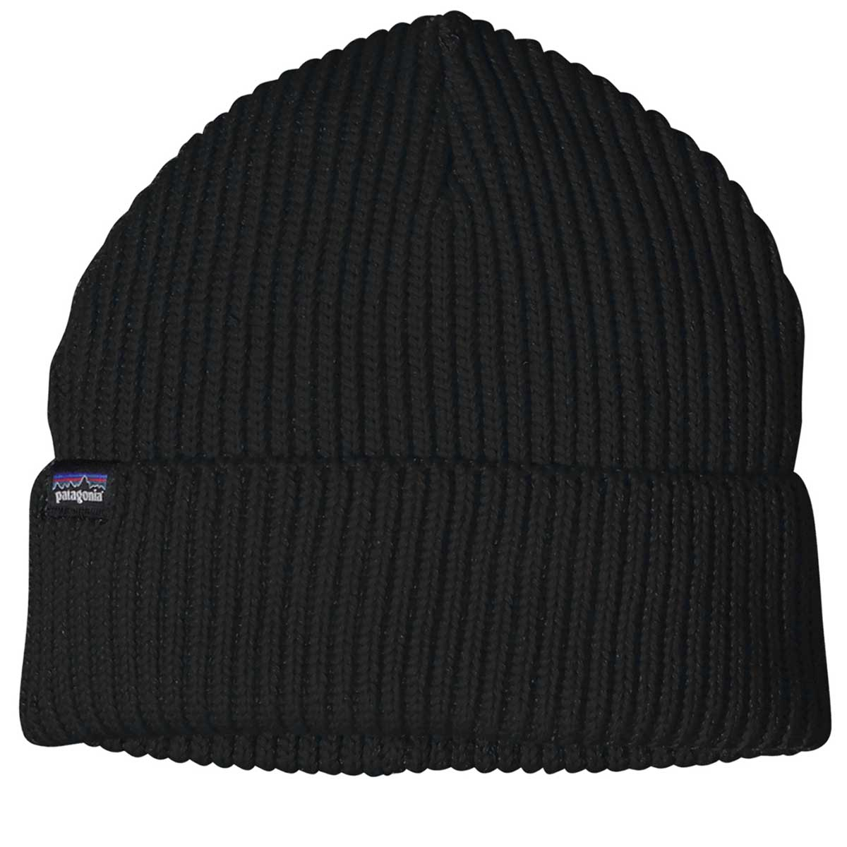 Patagonia Fishermans Rolled Beanie in Black