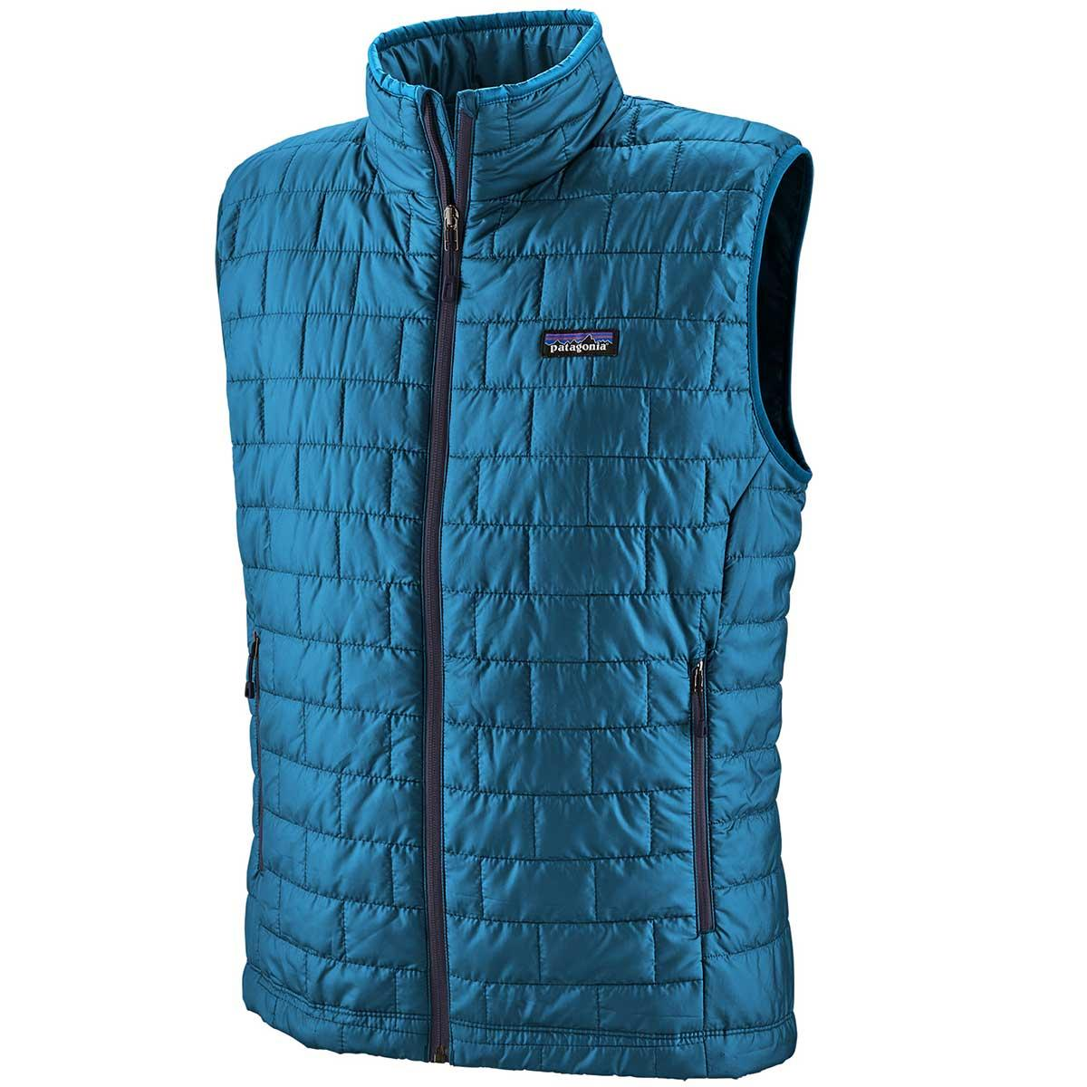 Patagonia men's Nano Puff Vest in Balkan Blue
