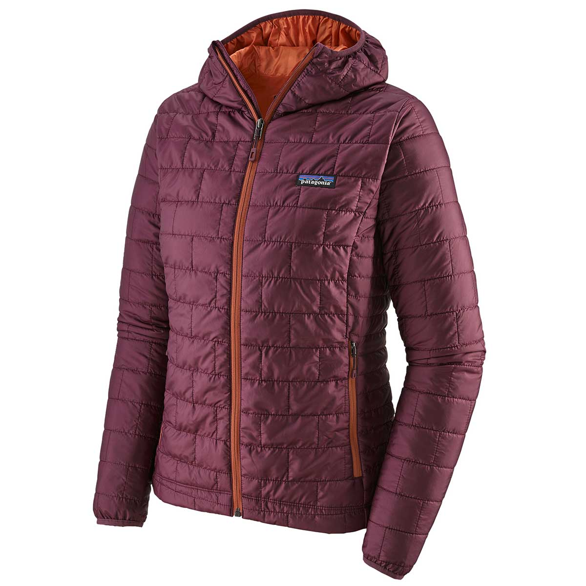 Patagonia women's Nano Puff Hoody in Light Balsamic front view