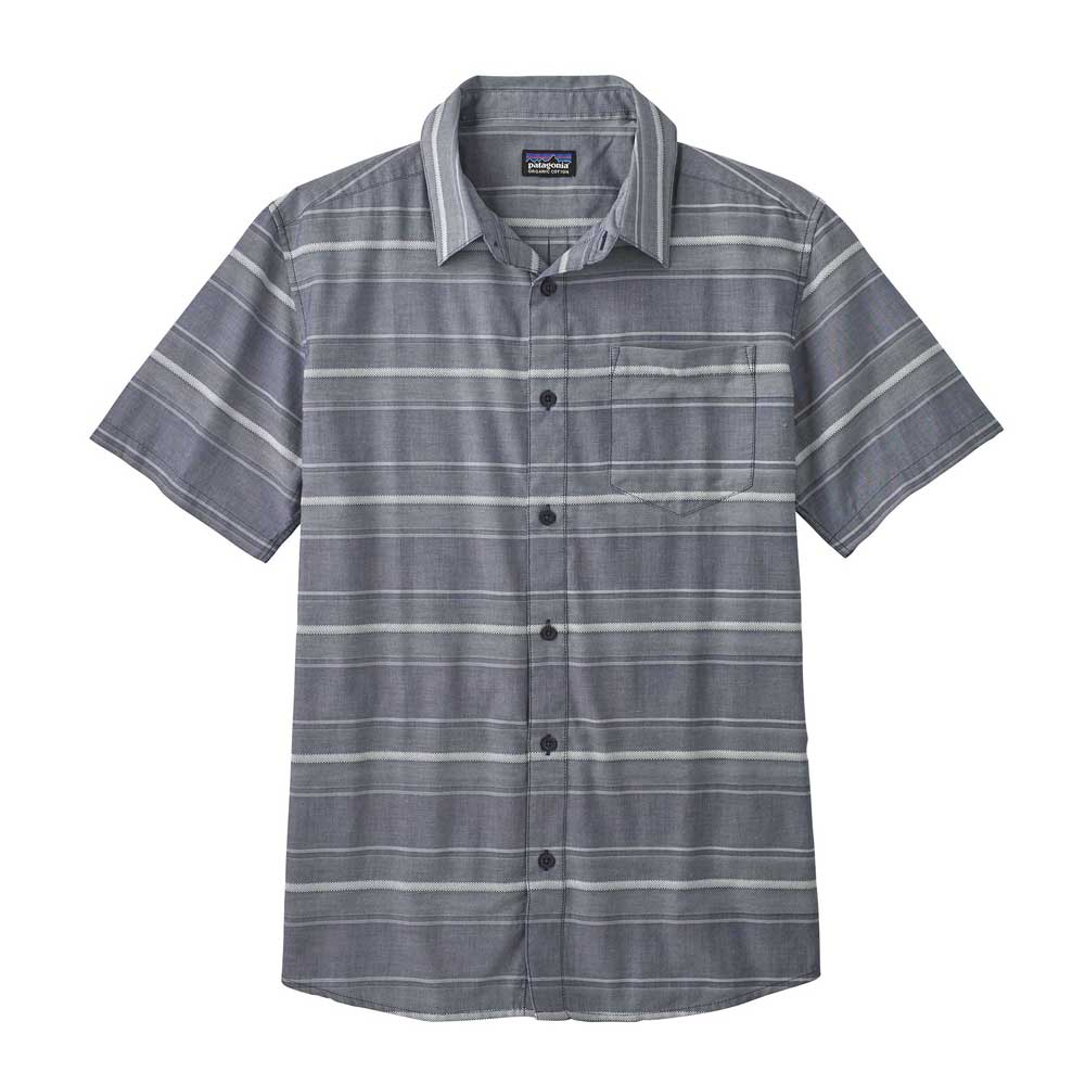 Men's Patagonia Fezzman button-up shirt in Rugby Dobby Classic Navy