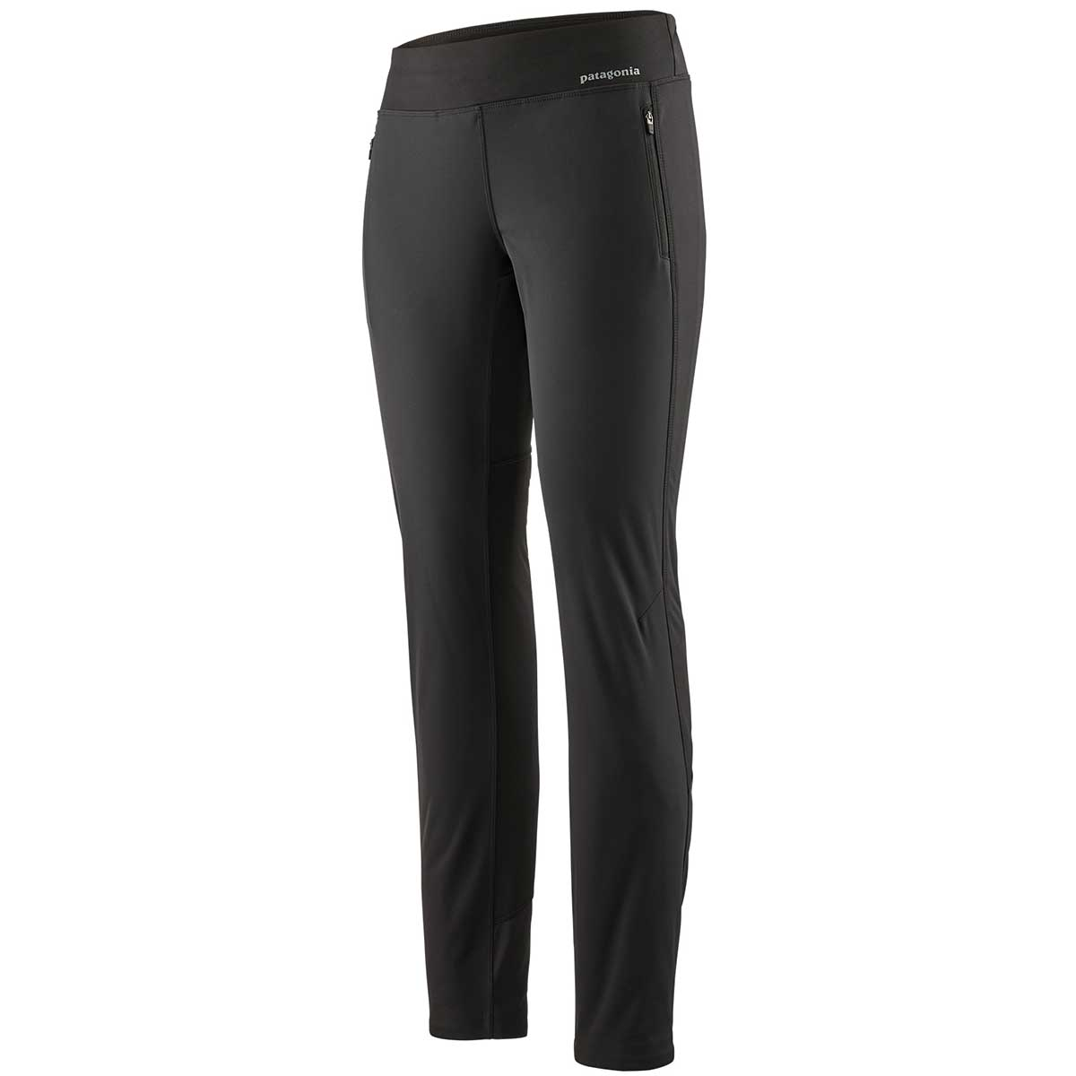 Patagonia women's Wind Shield Pant in Black front view