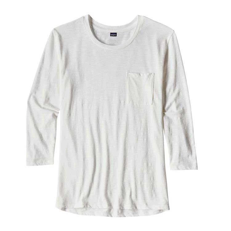 Women's Patagonia Mainstay 3/4 sleeve top in White
