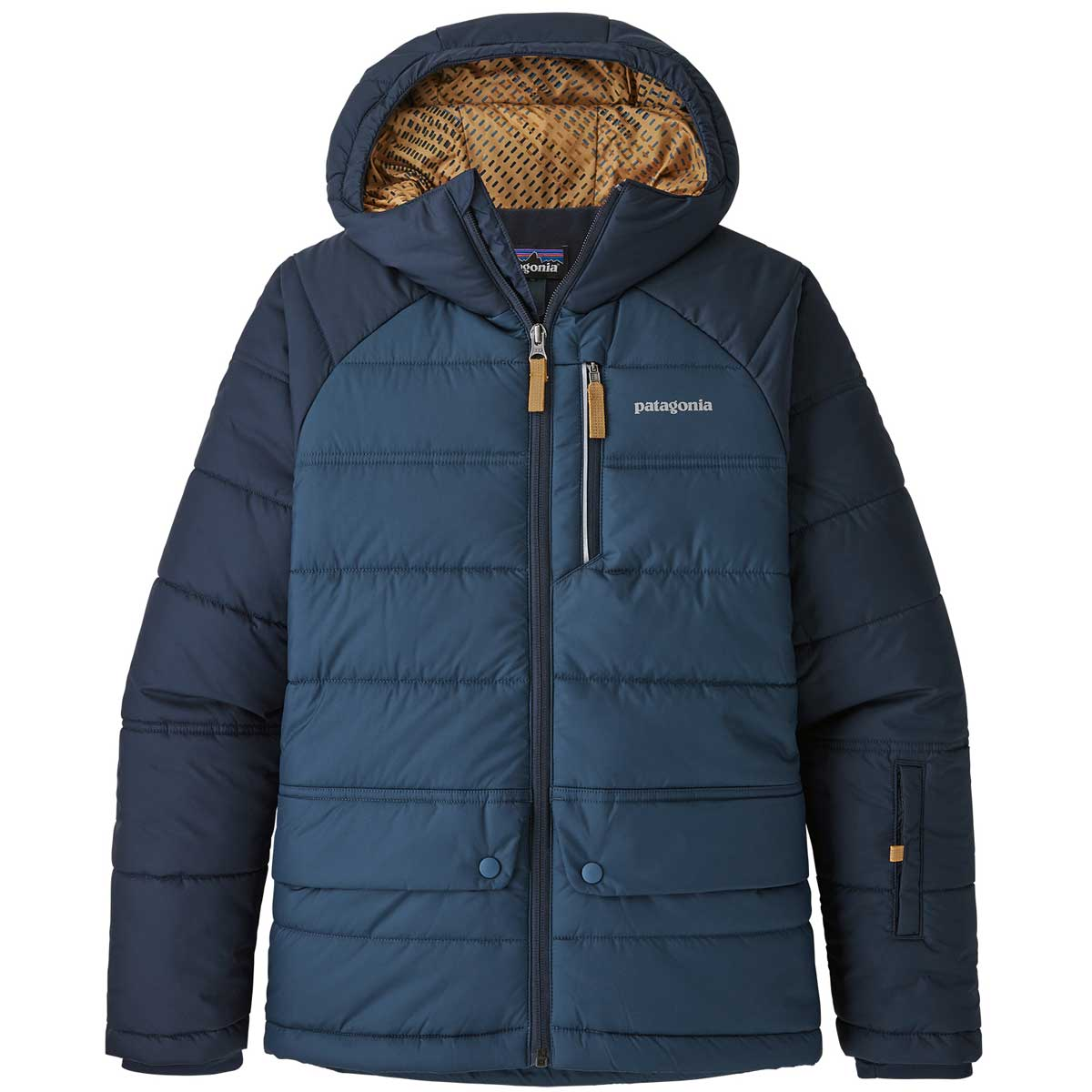 Patagonia boy's Pine Grove Jacket in Stone Blue front view
