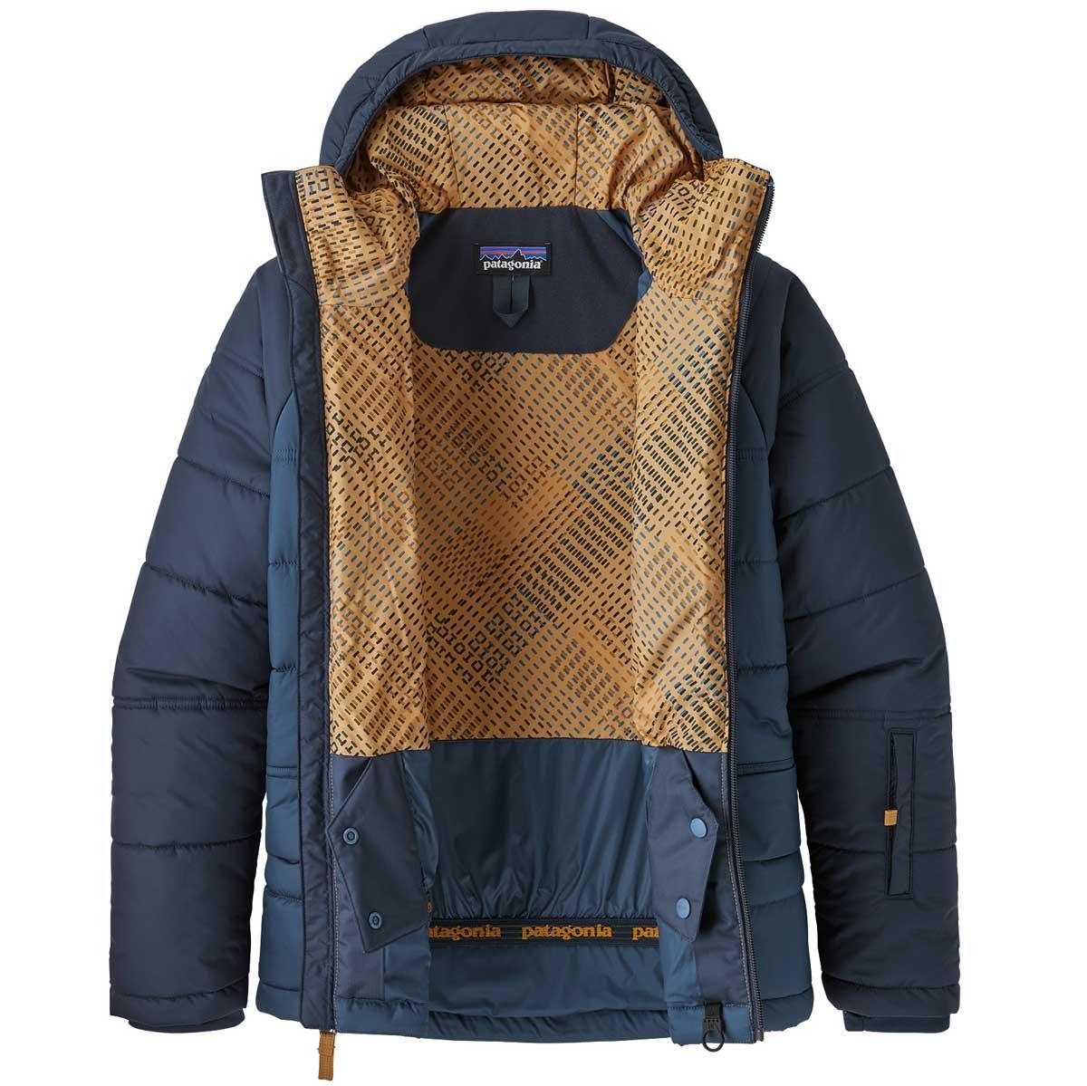 Patagonia boy's Pine Grove Jacket in Stone Blue open view