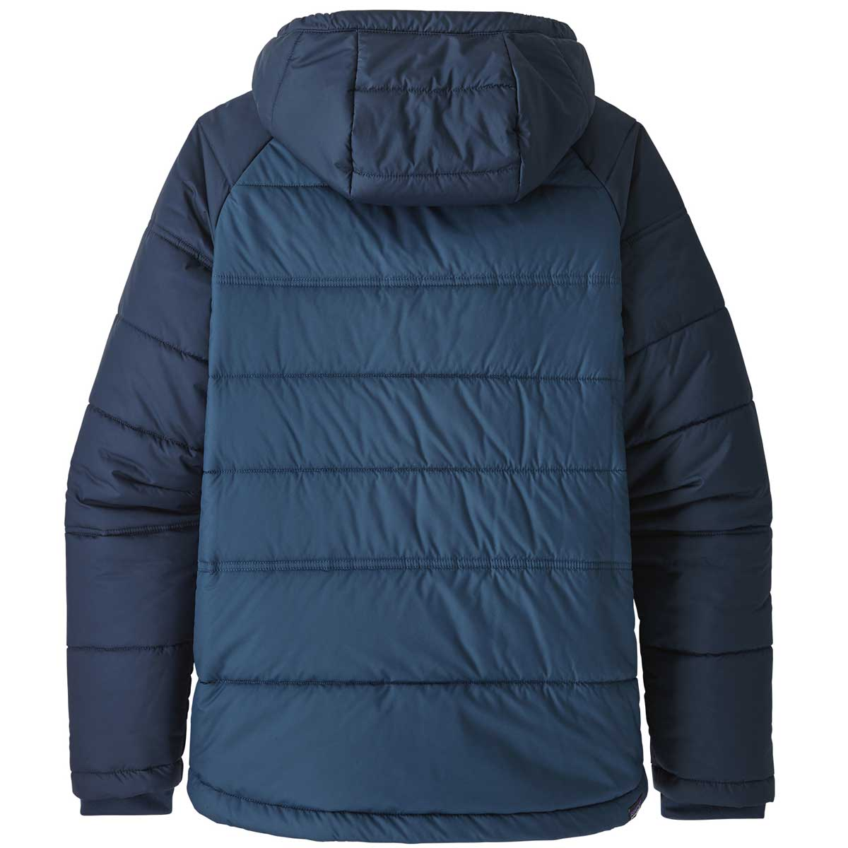 Patagonia boy's Pine Grove Jacket in Stone Blue back view