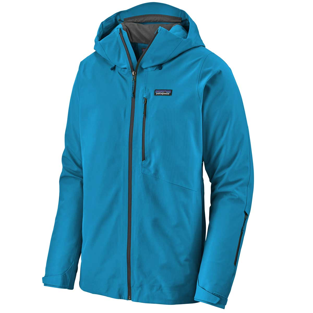 Patagonia men's Powder Bowl Jacket in Balkan Blue front view